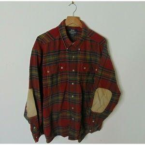 Willis & Geiger Xl Plaid Flannel Shirt Red